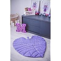 Leaf mat, Linen mat, Floor mat, Bedside mat, Linen Leaf design mat, Activity mat, Washed Linen mat, Baby birthday gift, Baby play mat for nursery, Gift