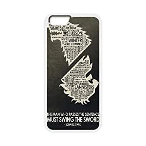 Okaycosama Game of Thrones iPhone 6 Plus Case Tyrion Lannister Inspired Quotes Game of Thrones Protector For Girls, Case For Iphone 6 Plus Protector For Girls [White]