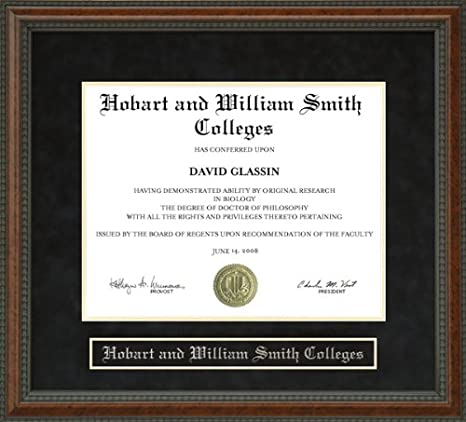 Amazon Hobart And William Smith Colleges Diploma Frame