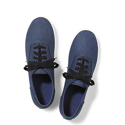 Keds Men's Champion Denim Fashion Sneaker, Indigo/Black, 8.5 M (Mens Keds)