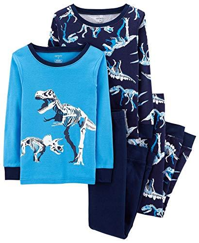 Carter's Little Boys' Snug Fit Cotton Pajamas (Navy/Dinos, 8)