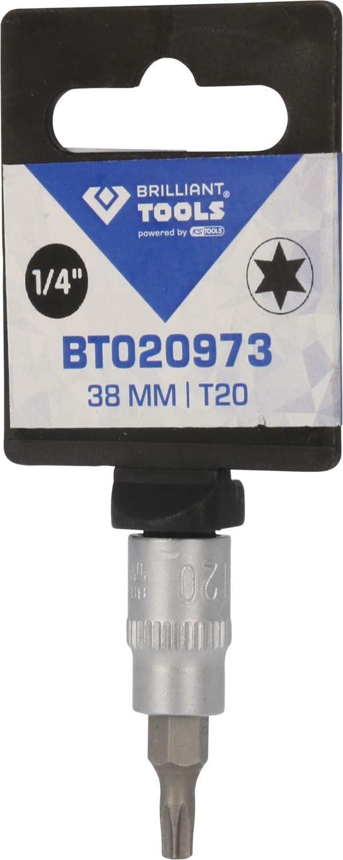 Brilliant Tools BT020973 1//4 Inch Torx Screwdriver 38 mm T20 Insert