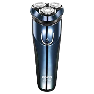 Flyco Electric Razor for Men, Mens Rotary Shaver Rechargeable Cordless Close Cut Wet & Dry Razors with Trimmer, Full Body IPX7 Waterproof
