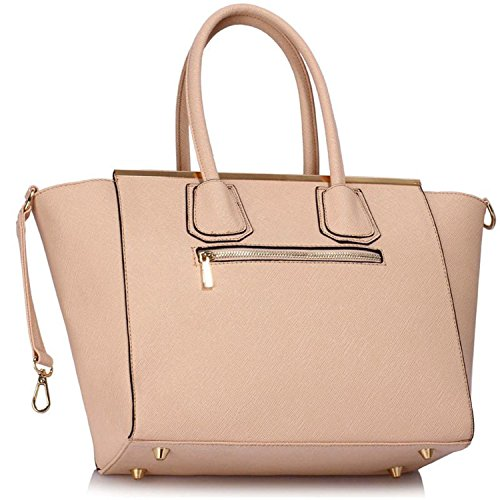 Xardi London Belinda in similpelle a perno Tote Medium Grab Handbags designer donne borse a tracolla Nude