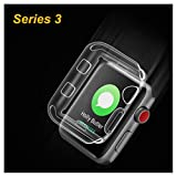 Apple Watch 3 Screen Protector Case Leeanyoung Ultra-thin Soft TPU Case 0.3MM High Transparency Full Cover for New Apple Watch Series 3 (2107) 38mm