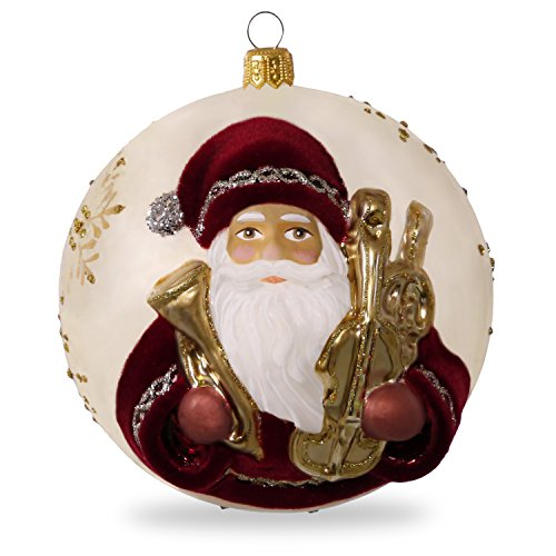 Hallmark Keepsake 2017 Hopeful Father Christmas Premium Blown Glass Christmas Ornament