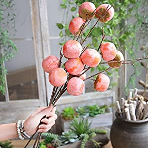 YJYdada Fake Artificial Rose Fruit Pomegranate Berries Bouquet Floral Garden Home Decor 85