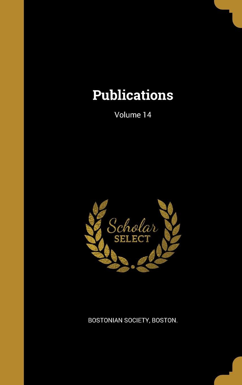 Publications; Volume 14 pdf