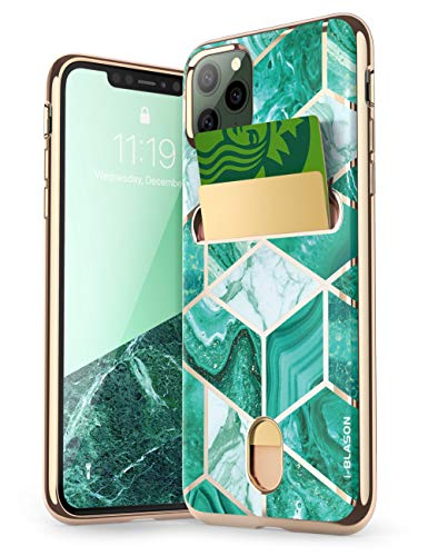 i-Blason Cosmo Wallet Slim Designer Wallet Case for Apple iPhone 11 Pro (2019), 5.8 Inch (Green)