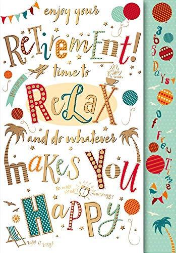 Tarjeta de jubilación ~ Relájate y haz lo que te haga feliz ...