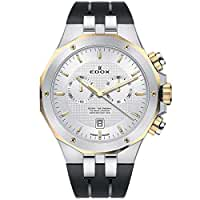 Edox Men's Delfin The Original 43mm Black Rubber Band Steel Case Swiss Quartz Watch 10110 357JCA AID