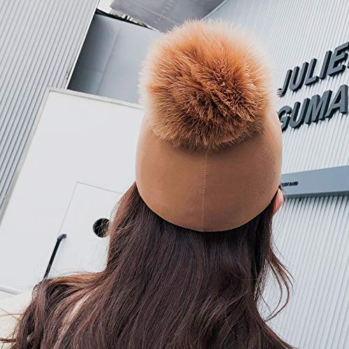 Sombrero Gorra Pelo Invierno Femenina Home Ecuestre E Bola Inglaterra De 58cm Gran Size Peludo Camel Caballero Camel M 56 Caída Otoño Marcu color xAvwq8w