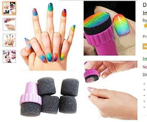 CAOLATOR 10 pc /Set Tampon Stamping Ongle Manucure Eponge Nail Art Vernis Degrade Decor Sponge Éponge à ongles