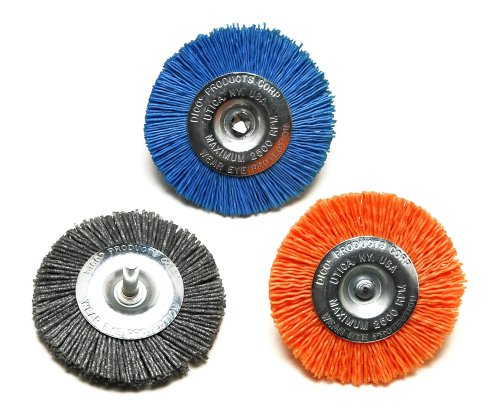 Dico 50-3 Wheel Nyalox Wheel Kit 3' Assorted Wheel Brushes, 3Piece