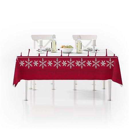 QWEASDZX Navidad Decoración Mantel Rectangular, Mantel 3D ...