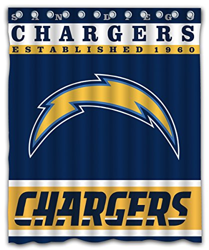- Sonaby Custom San Diego Chargers Waterproof Fabric Shower Curtain For Bathroom Decoration (60x72 Inches)