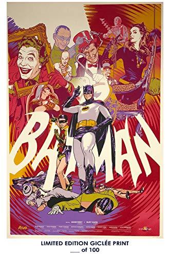 Lost Posters Rare Poster adam west Batman tv Show 1966 Movie Reprint #'d/100!! -