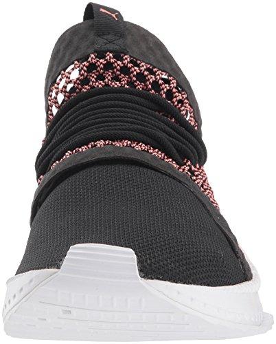 Puma Mens Tsugi Netfit Sneaker Puma Zwart-shell Roze-puma Wit