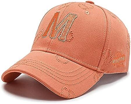 H/A GUOHUU Hombres Populares Hombres Hombres Mujeres Gorra de béisbol M Letra Bordado KPOP Deportes Sombrero Sol Sombreros Sombreros Fashion Street Dance GUOHUU (Color : Orange, tamaño : Talla única)