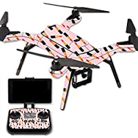 MightySkins Protective Vinyl Skin Decal for 3DR Solo Drone Quadcopter wrap cover sticker skins Lipstick Pattern