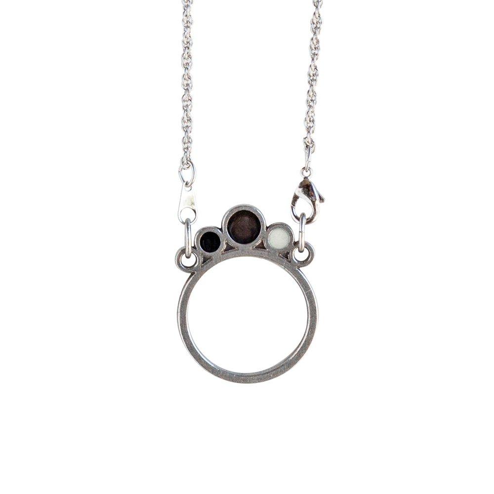 Danforth Pewter Meridian Eyeglass Necklace Holder 24 Inch Rope Chain (Black)