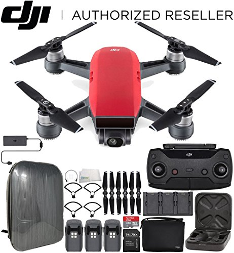 Cheap DJI Spark Portable Mini Drone Quadcopter Fly More Combo Hardshell Backpack Ultimate Bundle (Lava Red)
