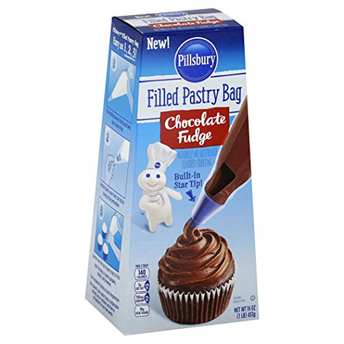 Pillsbury Pastry Bag Frosting, Chocolate Fudge, 6Count (Best Chocolate Fudge Frosting)