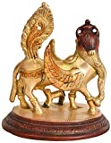 Kamadhenu The Wish-Fulfilling Divine Cow - Brass Statue