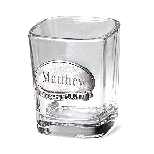 Personalized Pewter Medallion - Engraved Shot Glass - Includes Pewter Medallion - Monogrammed Shot Glass - Custom Shot Glass