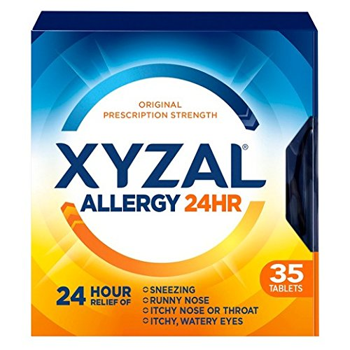 Xyzal Allergy 24 Hour - 35 Tablets, Pack of 6