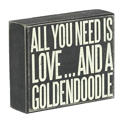 JennyGems Wood Box Sign All You Need Is Love And A Goldendoodle  Goldendoodle Gift Series Goldendoodle Quotes Goldendoodle Moms and Owners