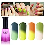 iLuve Long Lasting Soak Off Chameleon Temperature Colour Change Nail Polish with 72 Colors Choices | 4 bottle with 12ml UV Gel Polish of Color #54015