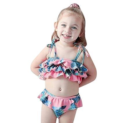 83bde8b6bb966 Amazon.com : EDTO Children Kids Girls Bikini, Beach Suspender Swimsuit+Shorts  Swimwear Set Outfit : Sports & Outdoors