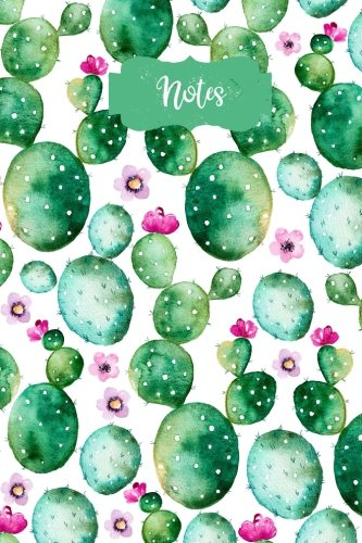 Notes: 120 Blank Lined Page Softcover Notes Journal, College Ruled Composition Notebook, 6 x 9 Blank Line Watercolor Succulent Cactus Boho Hippie Design Cover Note (Boho Designs)