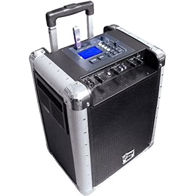 PYLE-PRO Battery Powered Portable PA System with USB/SD, DJ Controls and Aux Inputs