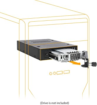 """Cage in 1 x 5.25/"""" Dri ICY DOCK 6 x 2.5/"""" SATA //SAS HDD//SSD Hot Swap Mobile Rack"""