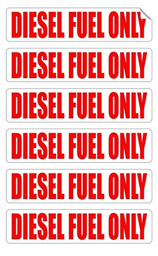 6 PCs Unrivaled Popular Diesel Fuel Only Car Stickers Turbo Door Gas Helmet Gasoline Emblem Size 3/4