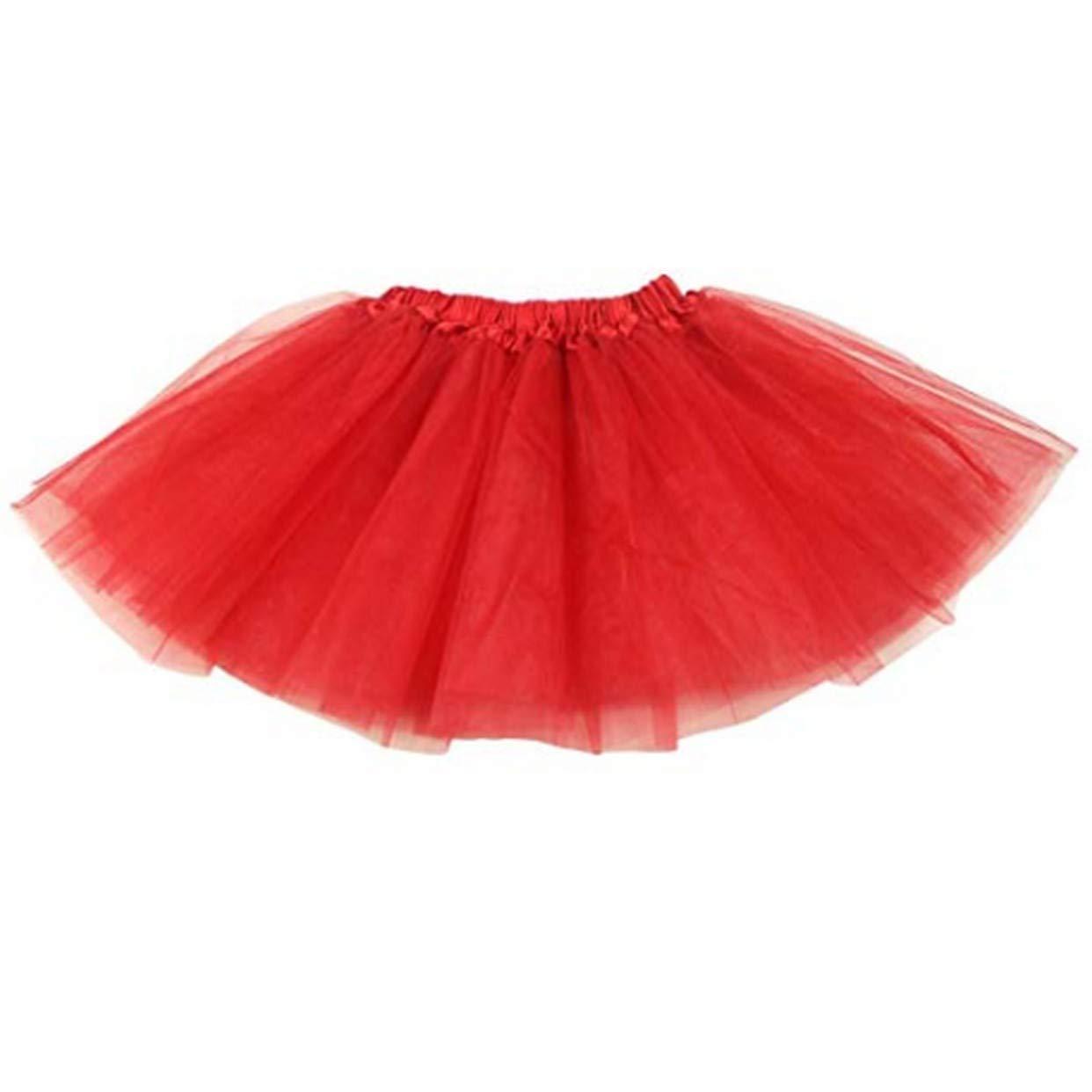 EVRYLON Gonna Tulle Bambina Gonnellina Tinta Unita 3 Strati Adatta Danza Ballerina Accessori tut/ù Vestiti Carnevale e Travestimento tg Unica 3-12 Anni