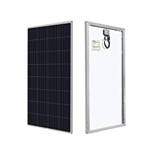 HQST 150 Watt 12 Volt Solar Panel for Off-Grid On-Grid Large Solar System, Residential Commercial House Cabin Sheds Rooftop, Battery Charging Boat, Caravan, RV, Multi-Panel Solar Arrays
