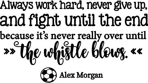 DS Inspirational Decals Alex Morgan Soccer Wall Decal - USA Womens World Cup Sticker/Vinyl Quote Décor for Bedroom - 20