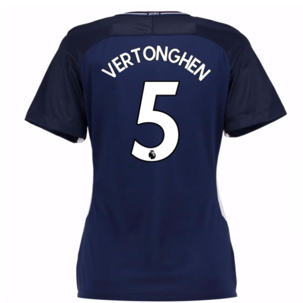 2017-18 Tottenham Damenschuhe Away Football Soccer T-Shirt Trikot (Jan Vertonghen 5)