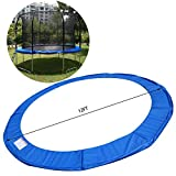 PEATAO 12FT Trampoline Safety Pad, Trampoline Replacement Pad Cover Waterproof Frame Spring Round Frame Cover (US Stock)