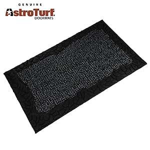 Clean Machine AstroTurf Doormat Mat Zen Pebbles 18u201dx30u201d Shoe Scraper Green  Gray