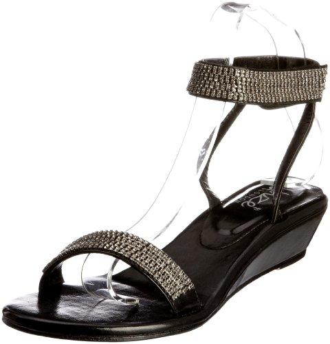 L18402W Negro Sandalias mujer para Sandals Unze Evening OwZqPSzAA