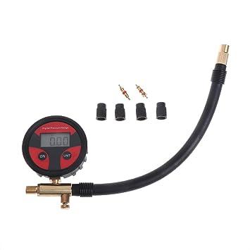 Elerose Digitale Reifen Manometer 0-200PSI Reifen Reifen Luftdruckpr/üfer Meter mit LCD Display f/ür Auto Lkw Motorrad