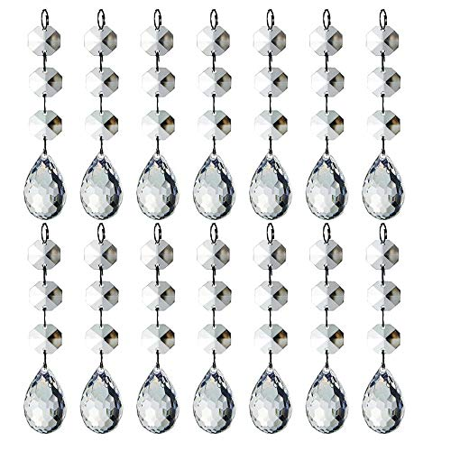 HOHIYA Christmas Ornament Artificial Tree Ball Wedding Hanging Acrylic Crystal Decorations(Clear,Pack of 30) Blue Green Silver Christmas Trees