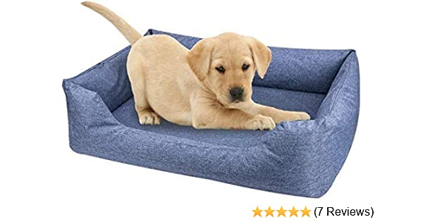 Cuscino Memory Foam Lavaggio.Amazon Com Thinkpet Natural Latex Dog Bed 95 Latex Mattress Dog Sofa With Water Resistant Removable Washable Covers Indoor Outdoor Durable For Small Medium Dog Blue Pet Supplies