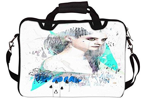Snoogg Verärgertes Mädchen Gedruckt Notebook-Tasche mit Schultergurt 13 bis 13,6 Zoll
