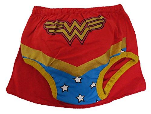 DC Comics Wonder Woman Caped Diaper Cover - 6-12 Months (Dc Comics Baby Clothes)