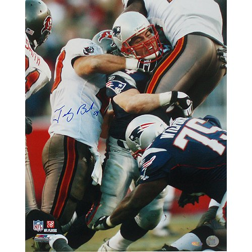 NFL New England Patriots Tedy Bruschi Tackle vs. Bucs Photograph, 16 x 20-Inch by Steiner Sports